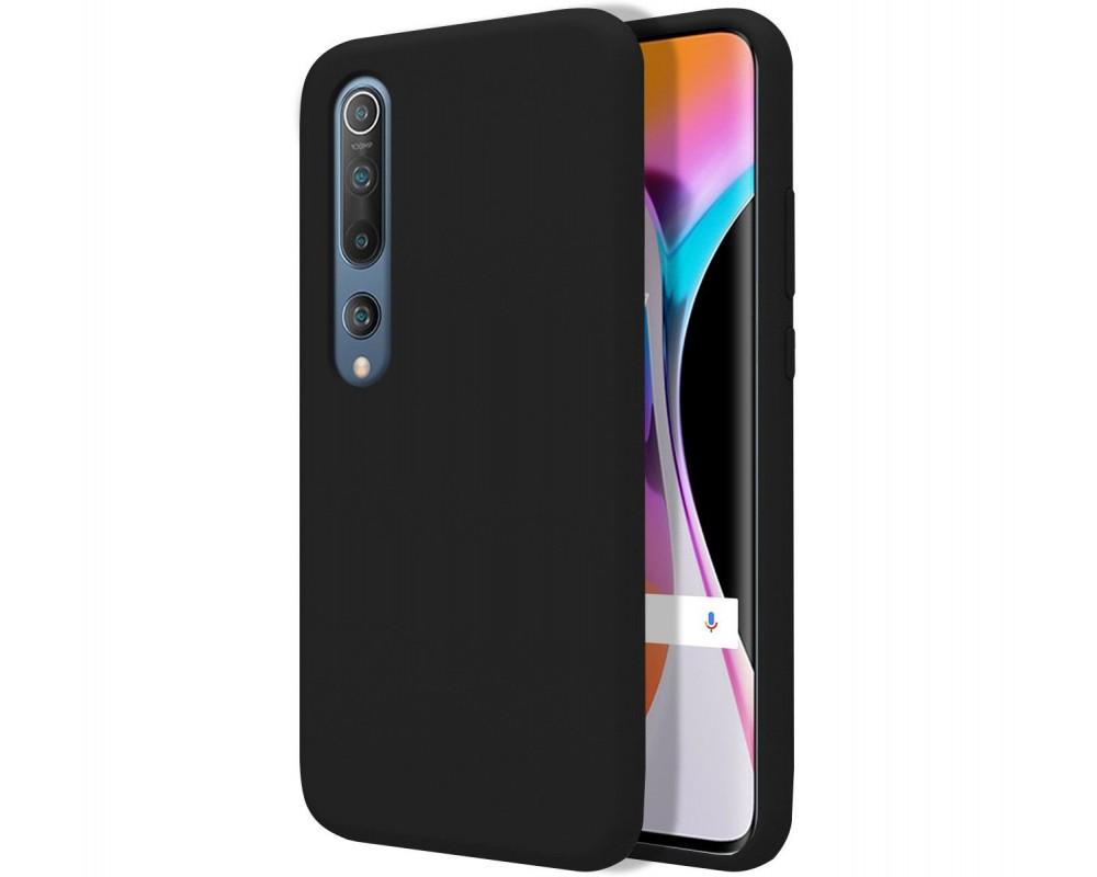 Funda Silicona Líquida Ultra Suave para Xiaomi Mi 10 / Mi 10 Pro color Negra