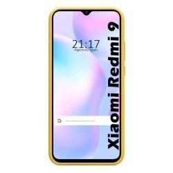 Funda Silicona Líquida Ultra Suave para Xiaomi Redmi 9A color Amarilla