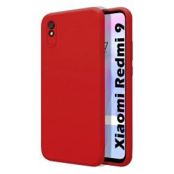 Funda Silicona Líquida Ultra Suave para Xiaomi Redmi 9A / 9AT color Roja