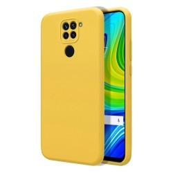 Funda Silicona Líquida Ultra Suave para Xiaomi Redmi Note 9 color Amarilla