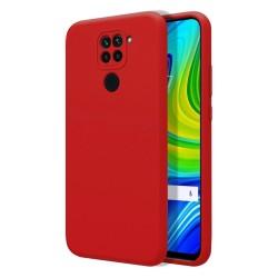 Funda Silicona Líquida Ultra Suave para Xiaomi Redmi Note 9 color Roja