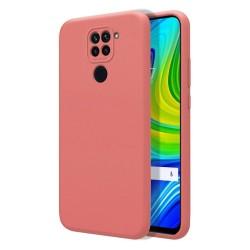 Funda Silicona Líquida Ultra Suave para Xiaomi Redmi Note 9 color Rosa
