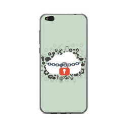 Funda Gel Tpu para Xiaomi Mi 5C Diseño Nube Dibujos