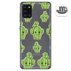 Funda Gel Transparente para Samsung Galaxy A31 diseño Cactus Dibujos