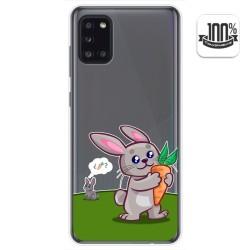 Funda Gel Transparente para Samsung Galaxy A31 diseño Conejo Dibujos