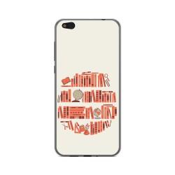 Funda Gel Tpu para Xiaomi Mi 5C Diseño Mundo Libro Dibujos