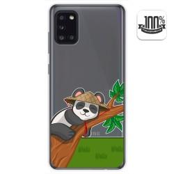 Funda Gel Transparente para Samsung Galaxy A31 diseño Panda Dibujos