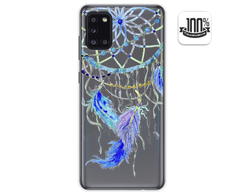 Funda Gel Transparente para Samsung Galaxy A31 diseño Plumas Dibujos
