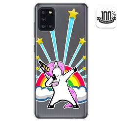 Funda Gel Transparente para Samsung Galaxy A31 diseño Unicornio Dibujos