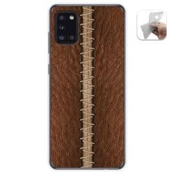 Funda Gel Tpu para Samsung Galaxy A31 diseño Cuero 01 Dibujos