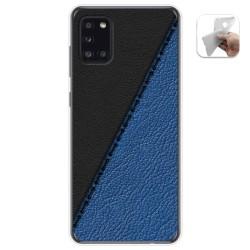 Funda Gel Tpu para Samsung Galaxy A31 diseño Cuero 02 Dibujos