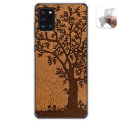 Funda Gel Tpu para Samsung Galaxy A31 diseño Cuero 03 Dibujos