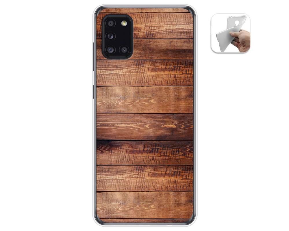 Funda Gel Tpu para Samsung Galaxy A31 diseño Madera 02 Dibujos