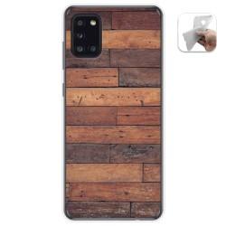 Funda Gel Tpu para Samsung Galaxy A31 diseño Madera 03 Dibujos