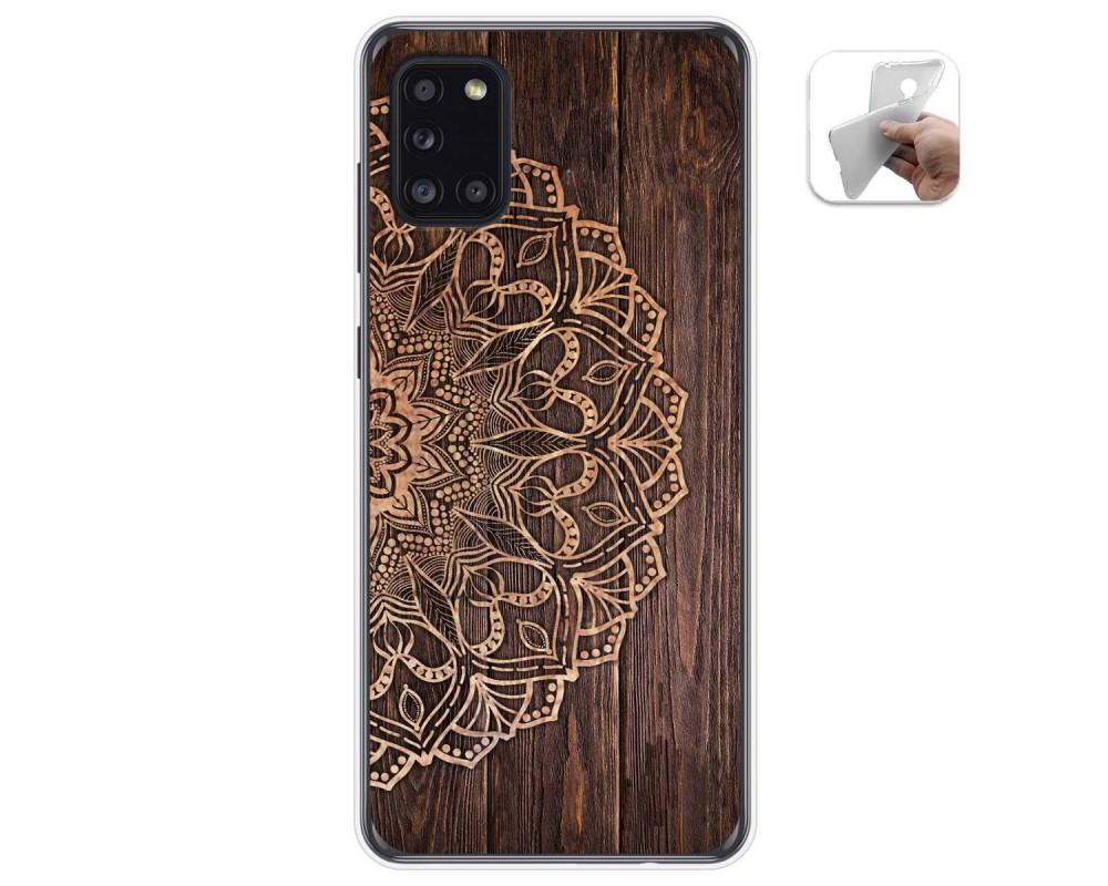 Funda Gel Tpu para Samsung Galaxy A31 diseño Madera 06 Dibujos