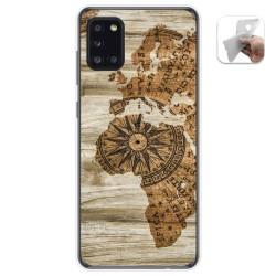 Funda Gel Tpu para Samsung Galaxy A31 diseño Madera 07 Dibujos