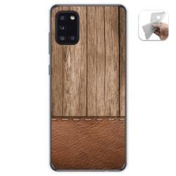 Funda Gel Tpu para Samsung Galaxy A31 diseño Madera 09 Dibujos