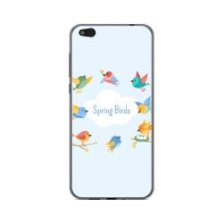 Funda Gel Tpu para Xiaomi Mi 5C Diseño Spring Birds Dibujos