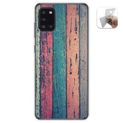 Funda Gel Tpu para Samsung Galaxy A31 diseño Madera 10 Dibujos