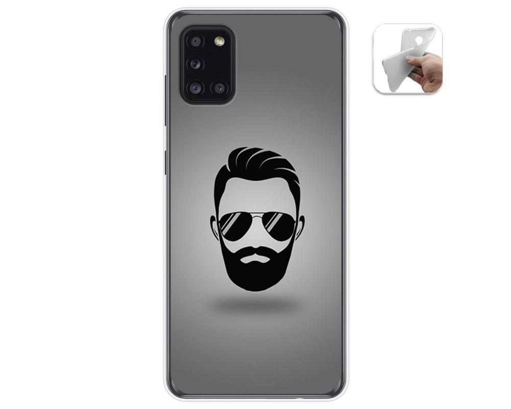 Funda Gel Tpu para Samsung Galaxy A31 diseño Barba Dibujos