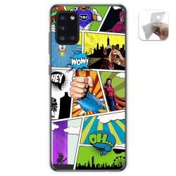 Funda Gel Tpu para Samsung Galaxy A31 diseño Comic Dibujos