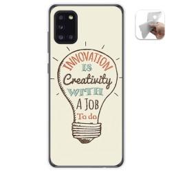 Funda Gel Tpu para Samsung Galaxy A31 diseño Creativity Dibujos