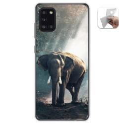 Funda Gel Tpu para Samsung Galaxy A31 diseño Elefante Dibujos