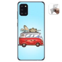 Funda Gel Tpu para Samsung Galaxy A31 diseño Furgoneta Dibujos