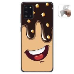Funda Gel Tpu para Samsung Galaxy A31 diseño Helado Chocolate Dibujos