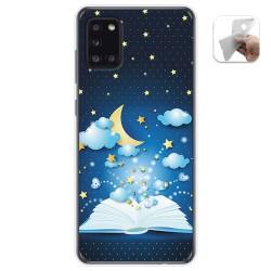 Funda Gel Tpu para Samsung Galaxy A31 diseño Libro Cuentos Dibujos