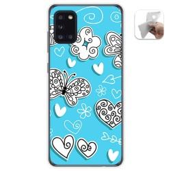 Funda Gel Tpu para Samsung Galaxy A31 diseño Mariposas Dibujos