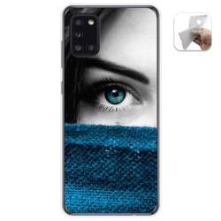 Funda Gel Tpu para Samsung Galaxy A31 diseño Ojo Dibujos