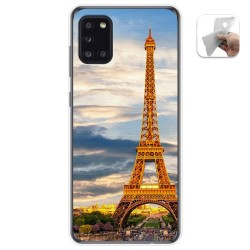 Funda Gel Tpu para Samsung Galaxy A31 diseño Paris Dibujos