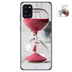 Funda Gel Tpu para Samsung Galaxy A31 diseño Reloj Dibujos