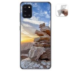Funda Gel Tpu para Samsung Galaxy A31 diseño Sunset Dibujos
