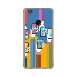 Funda Gel Tpu para Zte Nubia Z11 Mini Diseño Apps Dibujos
