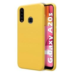 Funda Silicona Líquida Ultra Suave para Samsung Galaxy A20s color Amarilla