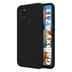 Funda Silicona Líquida Ultra Suave para Samsung Galaxy A21s color Negra