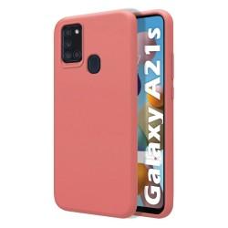 Funda Silicona Líquida Ultra Suave para Samsung Galaxy A21s color Rosa