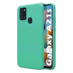 Funda Silicona Líquida Ultra Suave para Samsung Galaxy A21s color Verde