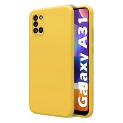 Funda Silicona Líquida Ultra Suave para Samsung Galaxy A31 color Amarilla