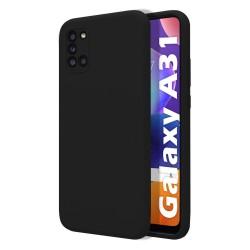 Funda Silicona Líquida Ultra Suave para Samsung Galaxy A31 color Negra