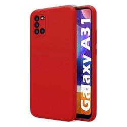 Funda Silicona Líquida Ultra Suave para Samsung Galaxy A31 color Roja