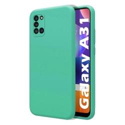 Funda Silicona Líquida Ultra Suave para Samsung Galaxy A31 color Verde