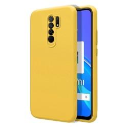 Funda Silicona Líquida Ultra Suave para Xiaomi Redmi 9 color Amarilla