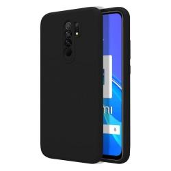 Funda Silicona Líquida Ultra Suave para Xiaomi Redmi 9 color Negra