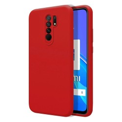 Funda Silicona Líquida Ultra Suave para Xiaomi Redmi 9 color Roja