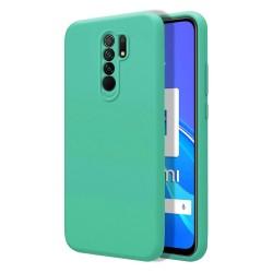 Funda Silicona Líquida Ultra Suave para Xiaomi Redmi 9 color Verde