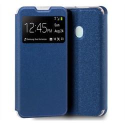 Funda Libro Soporte con Ventana para Samsung Galaxy A21s color Azul