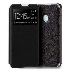 Funda Libro Soporte con Ventana para Samsung Galaxy A21s color Negra